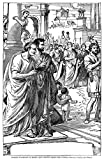 Julius Caesar (100 B.C-44 B.C.). /Nroman General And Statesman. Caesar (Upper Right Center) Holding A Scroll Returning From The Games At Rome; Brutus And Cassius In Left Foreground: Wood Engraving Late 19Th Century. Fine Art Print (60.96 x 91.44 cm)