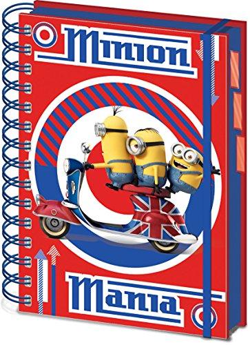 Minions Notebook A5 British Mod Red Pyramid International