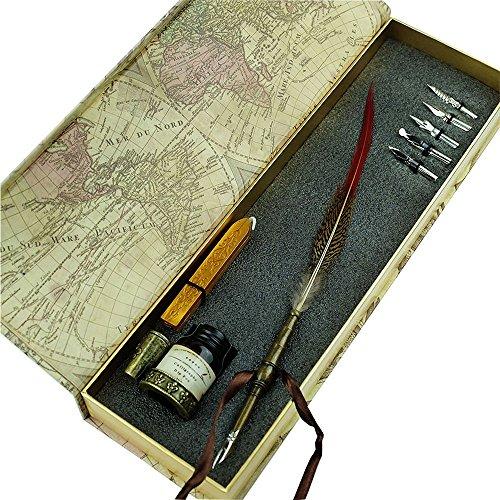 pluma-de-escritura-en-buen-estado-pluma-de-ave-antigua-con-punta-de-metal-pluma-de-caligrafia-1-bote