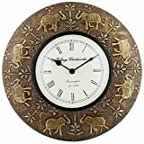 Swagger elephant brass vintage wall cloc...