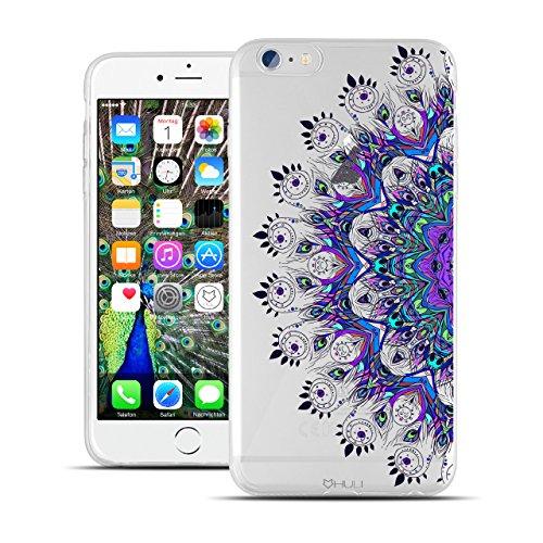 HULI Design Case Hülle für Apple iPhone 6 / 6s Smartphone mit Ornament Muster - Schutzhülle Silikon für Dein Handy mit orientalischem Mandala Sonnenmuster Henna Orient - Handyhülle mit Druck