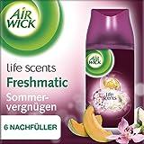 Air Wick Freshmatic Max Nachfüller für automatisches Duftspray, Sommervergnügen, 3x2 Stück (6 x 250 ml)