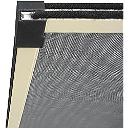 Verdelook Lot de moustiquaires en aluminium extensible pour porte-fenêtre, brosse de fermeture, couleur argenté, 100x 70cm