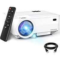 "HOPVISION Retroprojecteur,6000 Lumens Mini Projecteur 1080P Full HD,Vidéoprojecteur avec 240"" Display, Projecteur…"