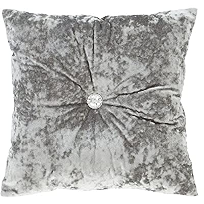 Catherine Lansfield Crushed Velvet Cushion Cover - Silver Grey