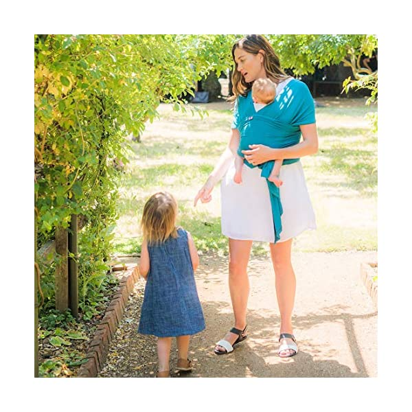 Izmi Wrap, Made from Soft Bamboo, Ideal for Newborns, Teal Izmi Ideal for use with new born babies (2.3kg-9kg) 2 carrying positions: front carry or hip carry Made from super soft Bamboo fabric that holds your baby in a snug comfortable position 4