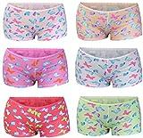 PiriModa 6 Pack Kinder Mädchen Baumwolle Pantys Boxer Unterhose Panty Unterwäsche Boxershorts Slips Schlüpfer 2-14 Jahre Größe 104-164 (104-110 (2-4Jahre), Modell 3)