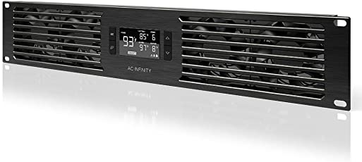 AC Infinity CLOUDPLATE T7, Quiet Rack Mount Fan Panel 2U, for cooling Home Theater, AV, Studio, Audio 19 Â Rack
