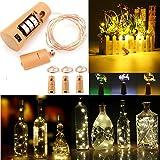 Bazaar Batterie angetriebene 150CM im Freien LED-Kork geformte sternenklare helle Wein-Flaschen-Feiertags-Lampe für Weihnachten
