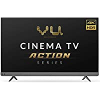 Vu 164cm (65inches) Cinema TV Action Series 4K Ultra HD LED Smart Android TV 65LX (Black) (2021 Model) I With 100 watt…
