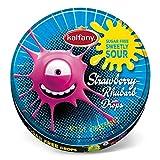 Crazy Drops Strawberry Rhubarb Bonbons 50 g Dose blau