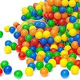 eyepower 50 Balles de jeu en plastique 5,5cm de diamètre set de balles colorées pour enfants chiots décoration fêtes
