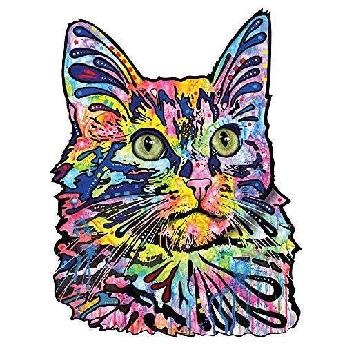 MyWonderfulWalls Angora Katze-Wandtattoo Cut Out Animal Pop Art von Dean Russo (100,3cm W x 131,1cm H)