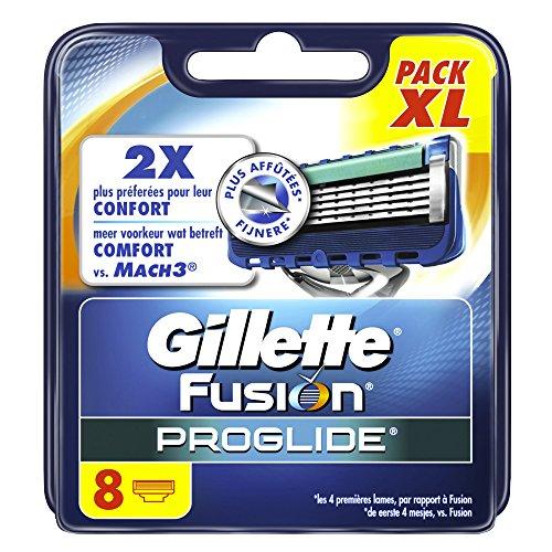Gillette Fusion PROGLIDE las hojas de afeitar para hombres 8 recargas