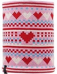 Buff Neck Warmer Knit and Polar - Gorro de esquí para mujer, color rosa