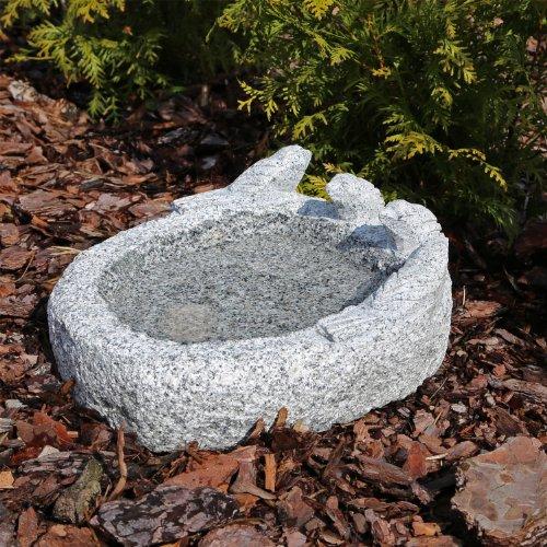 Granit Vogeltränke M3 Vogelbad Vogel Tränke Bad aus Naturstein