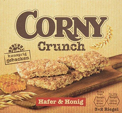 CORNY Crunch Hafer & Honig, knackiger Müsliriegel, 9er Pack (9 x 120g Schachtel mit je 3 x 2 Riegeln) -