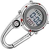 Clispeed - Mini gancio a moschettone, orologio da taschino tascabile, per attività di arrampicata all'aria aperta, colore: Ar