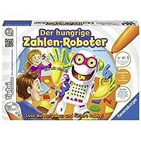 """Ravensburger-00706-Tiptoi-Spiel-Der-hungrige-Zahlen-Roboter Ravensburger tiptoi 00706 – """"Der hungrige Zahlen-Roboter"""" / Spiel von Ravensburger ab 4 Jahren / Lerne spielerisch Formen und Zahlen bis 20, in 4 Schwierigkeitsstufen -"""
