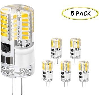 Jpodream® Bombillas LED G4, 3.5W 48 x 3014SMD Lámparas LED, 300LM, Equivalentes a Lámparas halógenas de 30W, Blanco Cálido 3000K, AC/DC 12V, Ángulo de Haz ...
