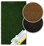Anti Slip AstroTurf Doormat Easy Clean 70cm x 40cm Outdoor Scraper Mat (Green)