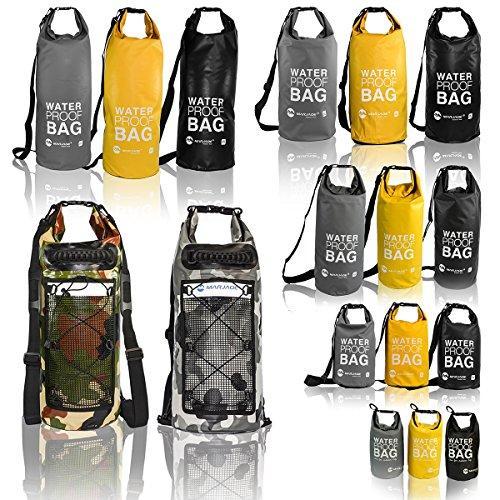 eyepower Trockentasche 5L 10L 20L 25L 30L Dry Bag 100% wasserdicht ultraleicht Packsack Stausack inkl. verstellbarer Schultergurt Seesack Diverse Farben