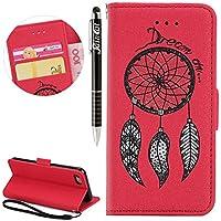 iPhone 7 Hülle, iPhone 7 Hülle Ledertasche Brieftasche im BookStyle, SainCat PU Leder Wallet Case Folio Prägung... preisvergleich bei billige-tabletten.eu