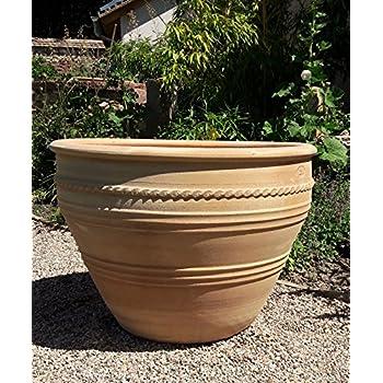 Kreta Keramik Terracotta Pflanzgefass 50 Cm Handgefertigt Und