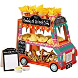 Street Stalls - Expositor decorado para comida, diseño de furgoneta multicolor