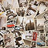 EUGU 32 Pcs 1 Set Vintage Retro Old Travel Postcards per la raccolta Cartolinee di viaggio