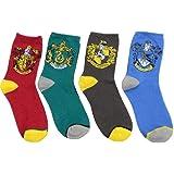 4Pairs Primavera Invierno Harry Potter Calcetines para Adultos Mujeres Hombres Calcetines Calzino Harri Cosplay Accesorios Ha