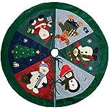 WeRChristmas–Decorazione Gonna Albero di Natale Personaggio, Tessuto,, 120cm, Grande
