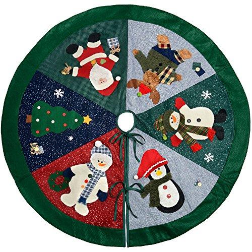 WeRChristmas–Árbol de Navidad Character falda decoración, tela, multicolor, 120cm, grande