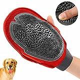 WAYCOM Dog/Cat Brush Gloves-Pet Grooming Brush Mitt-Pet Massager/Groomer