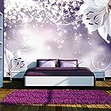 murando - Fototapete Blumen 400x280 cm - Vlies Tapete - Moderne Wanddeko - Design Tapete - Wandtapete - Wand Dekoration - Lilien Lila Abstrakt Ornament Bokeh b-A-0012-a-d