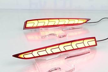 Led Rear Reflector Brake Light For Hyundai New Verna 2017-2018