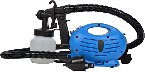 Inditradition Paint Zoom - Electronic Spray Paint Machine | Heavy Duty Paint Sprayer, With Multiple Accessories | 650-Watt, Blue/White