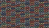 Urlaub Urlaub Stoffe–Brille schwarz–von halben
