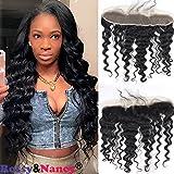 """Rossy&Nancy Deep Wave Lace Frontal 13x2"""" Ear To Ear Free Part 100% Unprocessed Brazilian Virgin Hair Top Lace..."""