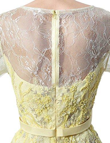 Sarahbridal Damen Spitze Abendkleier Lang Perspektive Ausschnitt Gebluemt Cocktailkleid Ballkleid SLX071 Minze
