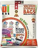Housses de rangement sous vide - 15 sacs de voyages pour économiser de l'espace - 1 Xl , 3 XLM , 4 L , 2 ML et 5 M - Sac de compression aspirable pour ranger vêtements et couettes - DIBAG