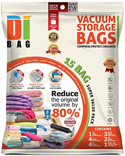 DIBAG 15 Bolsas almacenaje vacío ropa ahorrar espacio