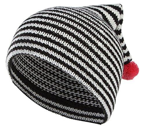 f4c717401f72 GEMVIE Bonnet Bébé Naissance Fille Garçon 3-24 Mois Chapeau Pompon Tricoté Hiver  Chaud Noir