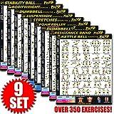 Eazy wie auf Multi Pack Bundle Workout Banner Poster Big 71,1x 50,8cm Zug Ausdauer, Ton, Build...