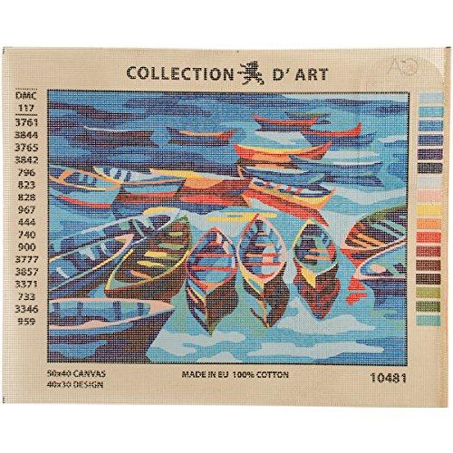 Collection D'Art CD10481 Leinwand für Stiekerei mit Gedruckten Muster, Gobelin, Baumwolle, Antik, 40 x 50 x 0,1 cm (Gobelin-bank)