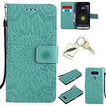 Etui Coque PU Slim Bumper pour LG G5 Souple Housse de Protection Flexible Soft Case Cas Couverture Anti Choc Mince Légère Silicone Cover Bouchon -photo Frame Keychain #TQB (2)