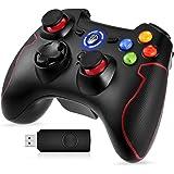EasySMX Mandos PC, [Regalos Originales] 2.4G Mandos PS3 Inalámbricos, Controlador PC, Gamepad PS3, Controller PC/PS3 Compatib