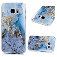 KASOS Galaxy S7 Marble Case, Marine Oceanic Blue Marble Pattern Hybrid Soft Flexible TPU Bumper Gel Cover Slim Fit Thin Shell Drop Scratch Shock Protection Skin for Samsung Galaxy S7