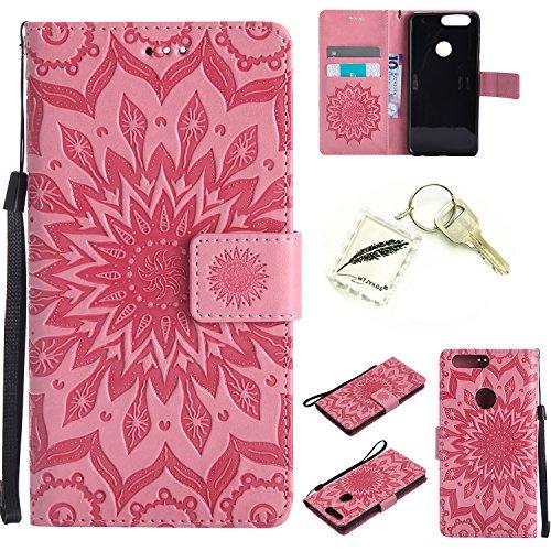 Preisvergleich Produktbild Silikonsoftshell PU Hülle für Huawei Honor 8 (5,2 Zoll) Tasche Schutz Hülle Case Cover Etui Strass Schutz schutzhülle Bumper Schale Silicone case+Exquisite key chain X1#KD (2) (8)