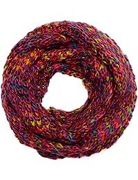Kandharis trendige Loopschal Schlauchschal in Grobstrick Muster zweifarbig 2 Farbig Uni